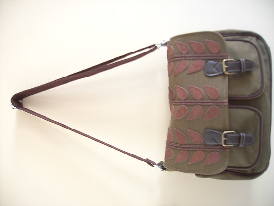LARGE SATCHEL ( green/woodland )