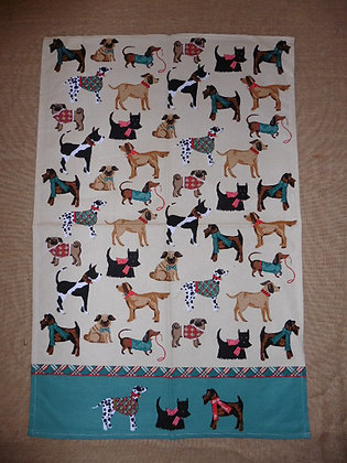 TEA TOWEL ( dogs )