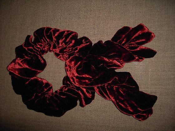 RUFFLE SCARF ( red )