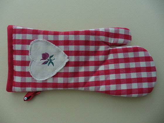 OVEN GLOVE ( rose )