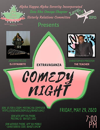 Zeta Rho Omega Comedy Night