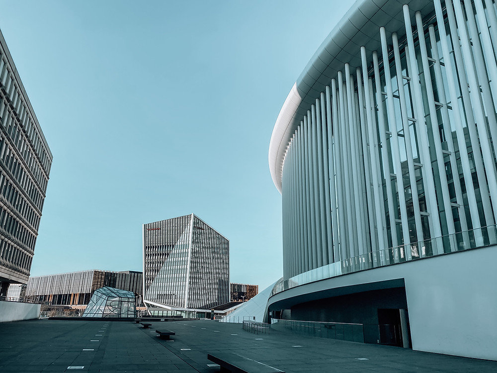 Office buildings in Kirchberg, Luxembourg