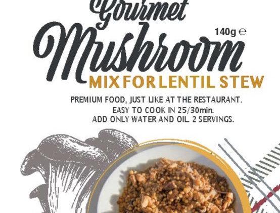 Gourmet Mushroom Lentil Stew