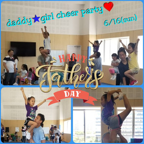 ★daddy ★girl cheer party★