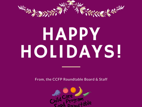 Happy Holidays from CCFP Roundtable