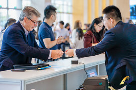 Don Registering for CBIIC 2019 Suzhou, China