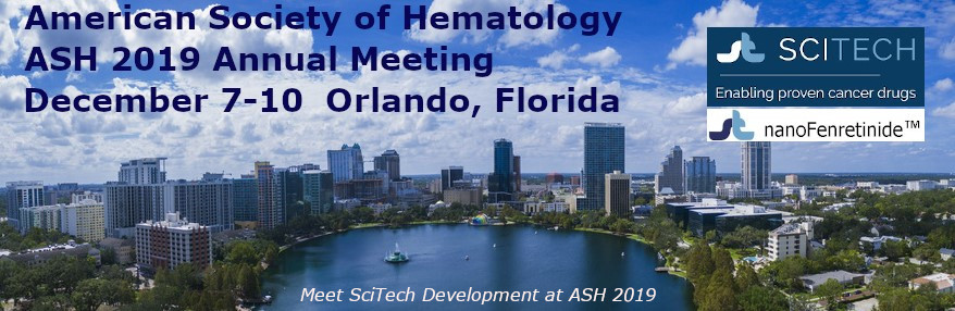 SciTech Presenting at Annual American Society of Hematology Meeting (ASH 2019)