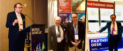 Earle Holsapple, Dr. Brian Leyland-Jones and Michael Young at Biotech Showcase 2020 and J.P. Morgan Healthcare Conference