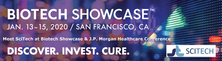 Meet SciTech at J.P. Morgan Healthcare Conference & Biotech Showcase 2020