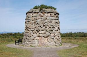 Culloden Battlefield cairn