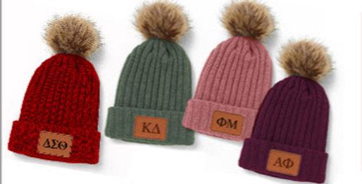 Branded Pom Pom Beanie Hat