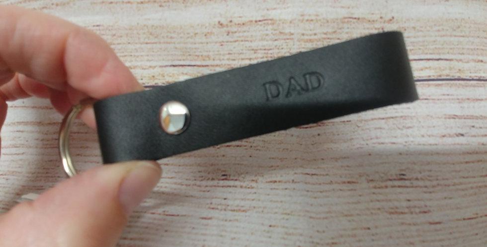 DAD leather keychain + screwdrivers
