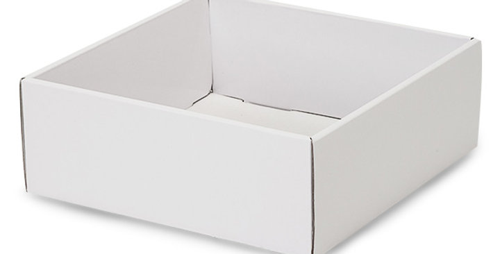 White Open Faced Gift Box