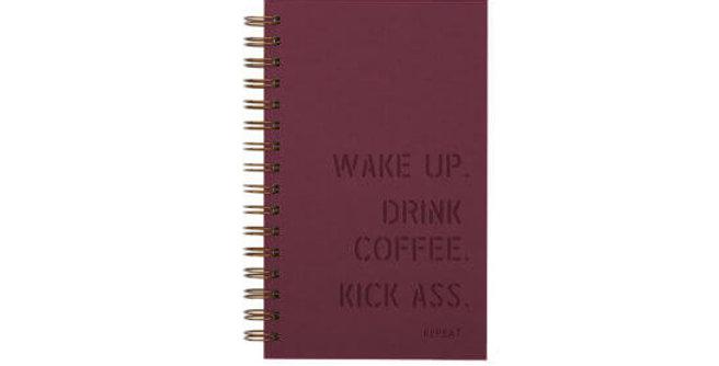 Kick Ass + coffee notebook