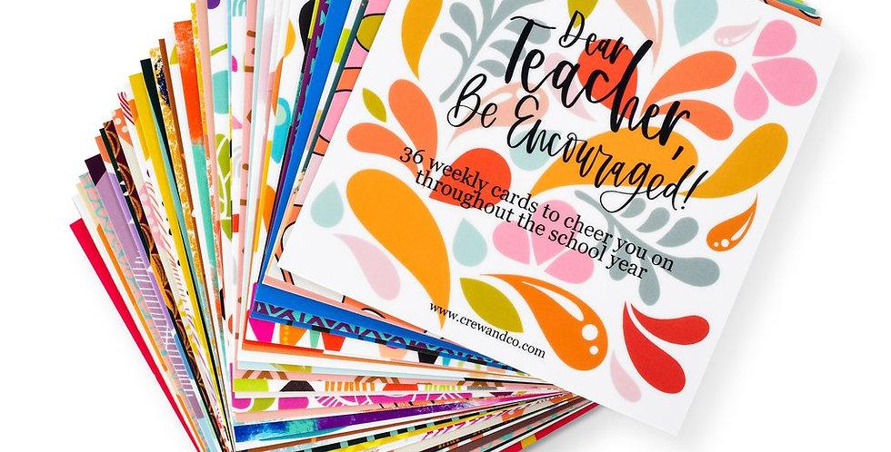 Dear Teacher Encouraging Cards