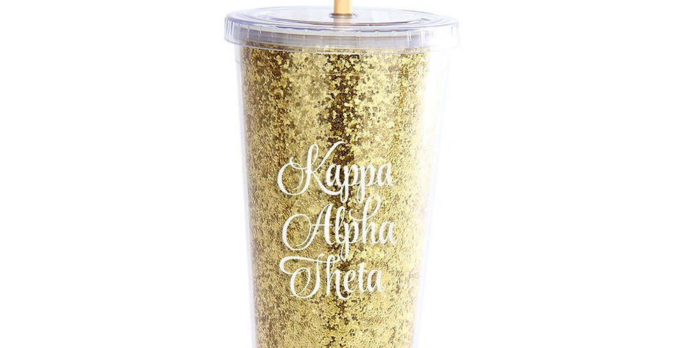 Glitter Kappa Alpha Theta Tumbler