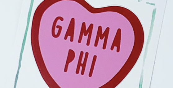 Sorority Sweet Heart Decal