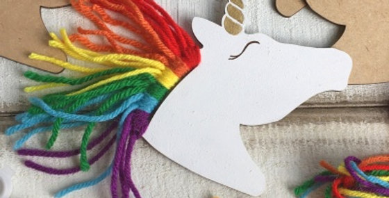 Wooden Unicorn Craft