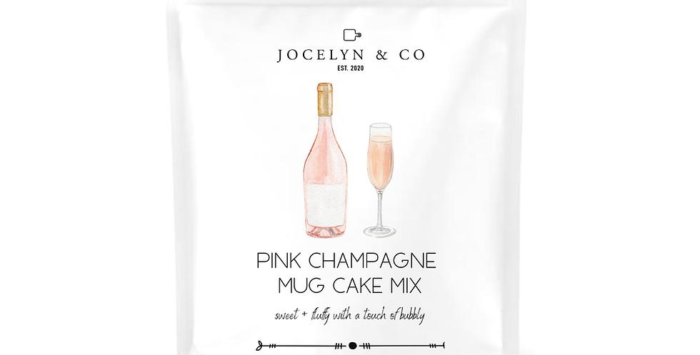 Pink Champagne Mug Cake Mix