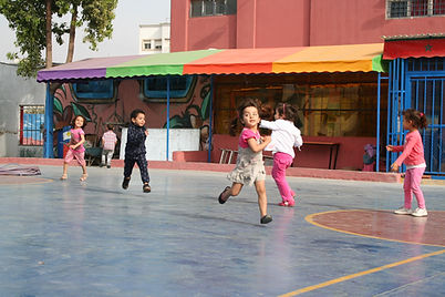Children playing at Sidi Moumen cultural center