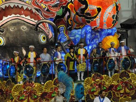 Águia participa do Carnaval de Asakusa