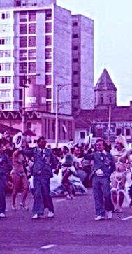 Na Avenida em 1977