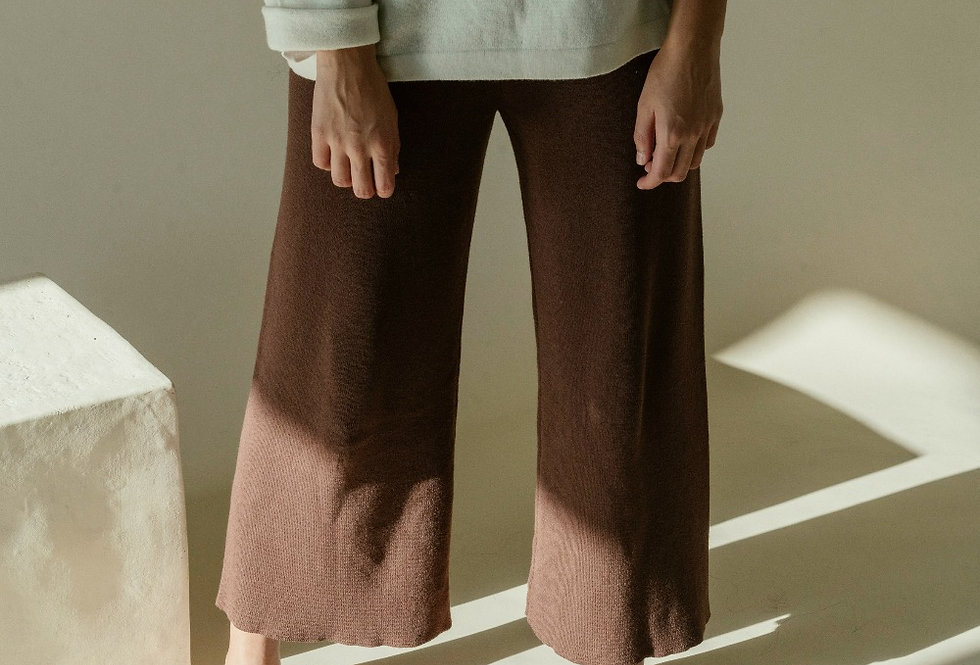 Brown Knitted Pants