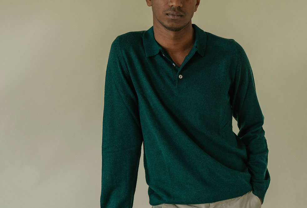 Green Cashmere Polo