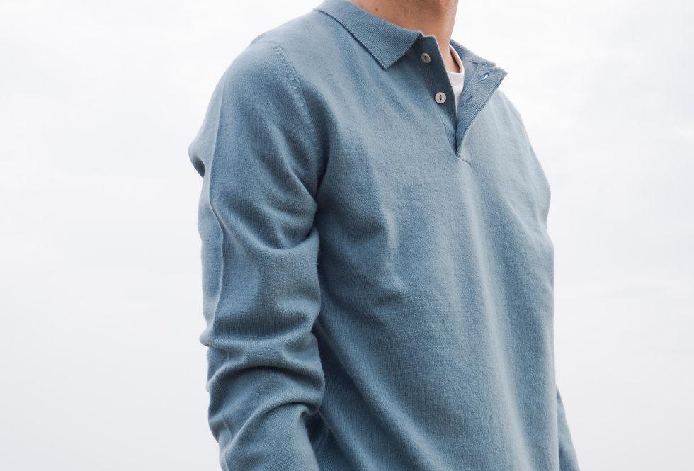 Blue Cashmere Polo