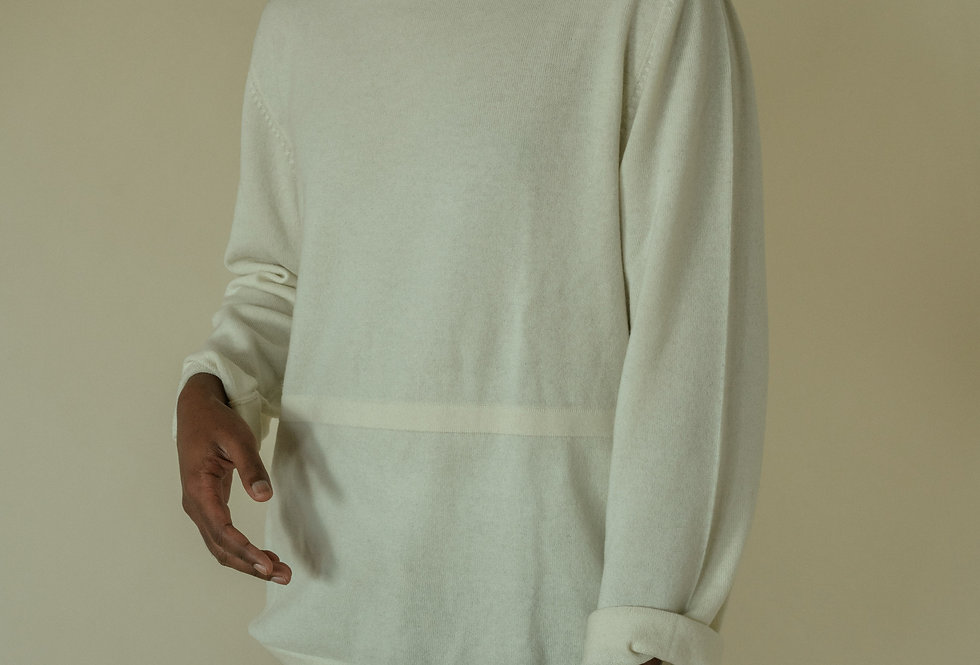 White Unisex Oversize Sweater