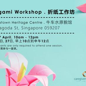 Origami Workshop - 20 & 27 April 2019