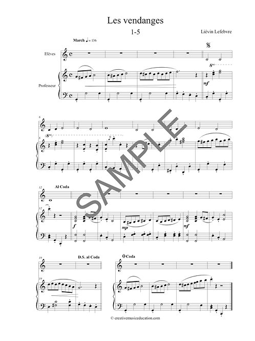 Accompagnements Piano Cycle 1