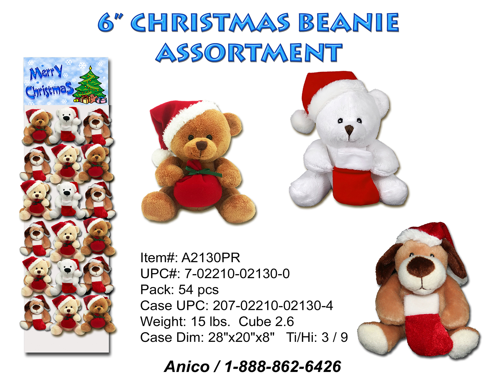 A2130PR Christmas Beanie Sheet 100219 co