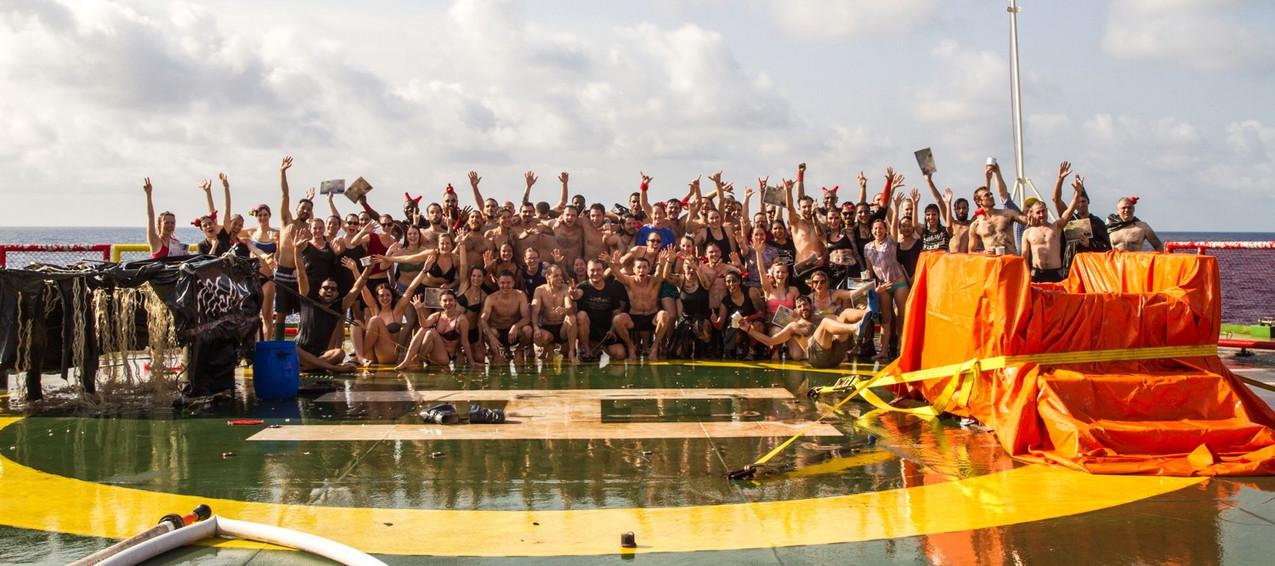 Equator crossing ceremony