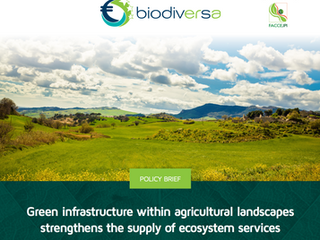 Green infrastructure within agricultural landscapes strengthens the supply of ecosystem services