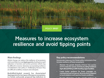 Increasing ecosystem resilience