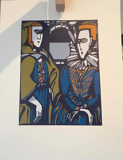 "-"" Tete-a-Tete""- Grace O ' Malley meets Queen Elizabeth 1 in 1593 """