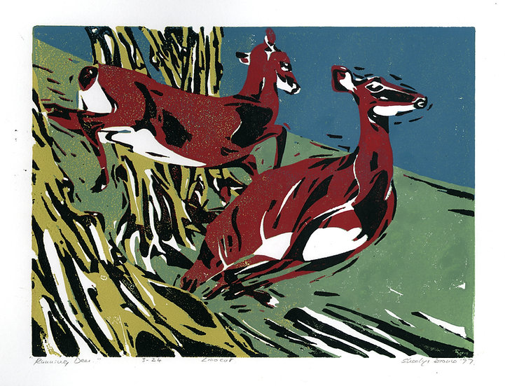 Running Deer / Pack of 6 cards