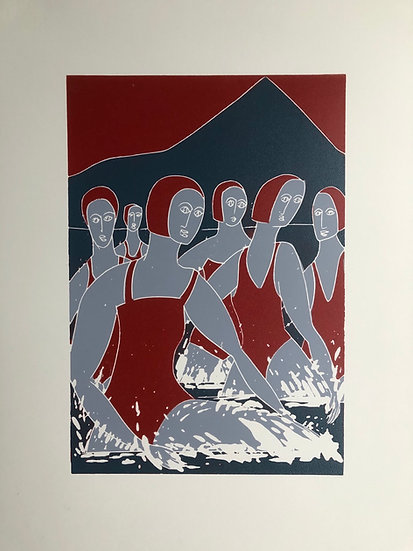 """"""" Red Sky Swimmers"""""""