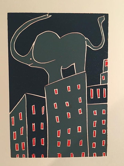 """ Elephant in the City """