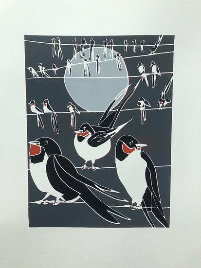 """ Swallows Gathering"""