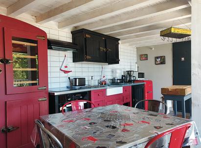 La cuisine du Gîte le Fer Servadou