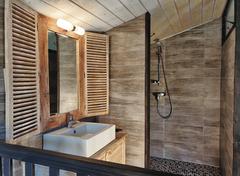 La salle d'eau du gîte le Fer Servadou