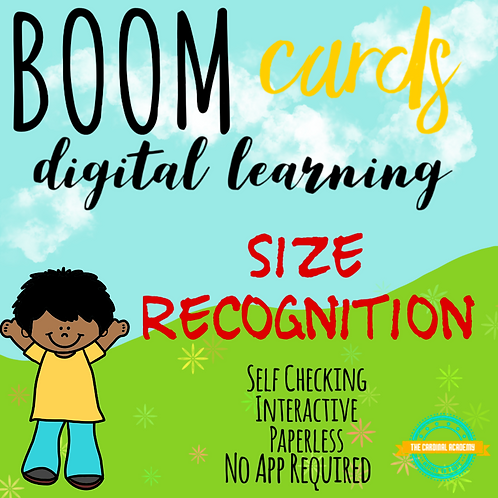 Basic Level Small Size Recognition - Boom Cards