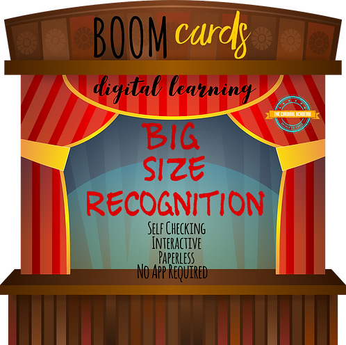 Big Size Recognition - Boom Cards