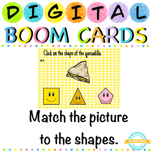 Identify the shapes - Boom Cards