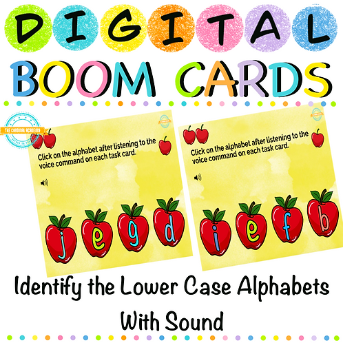 Identify the Lower Case Alphabets - Boom Cards
