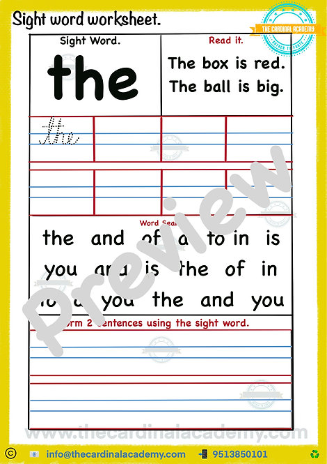 PS4 Worksheet for preschoolers aged 5-6(PS4)