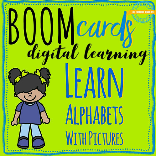 Learn alphabets with picture - Boom Cards