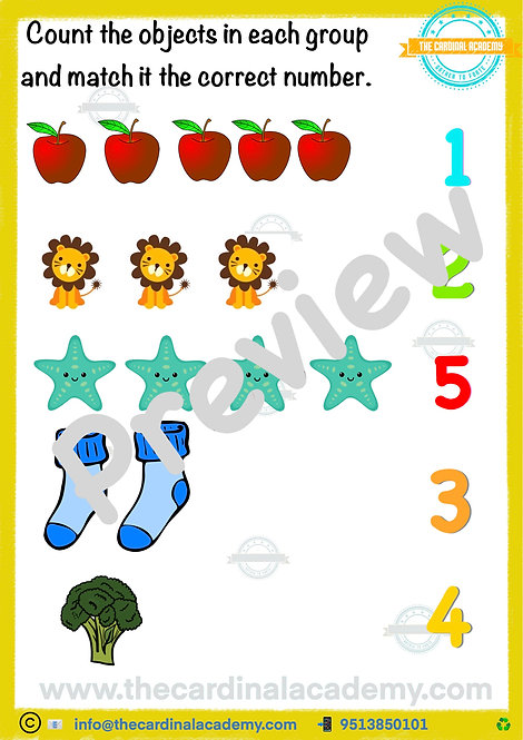 PS2 Worksheet for preschoolers aged 3-4(PS2)